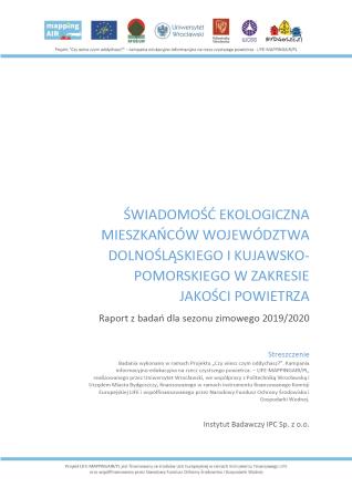 Raport Świadomość ekologiczna 2020