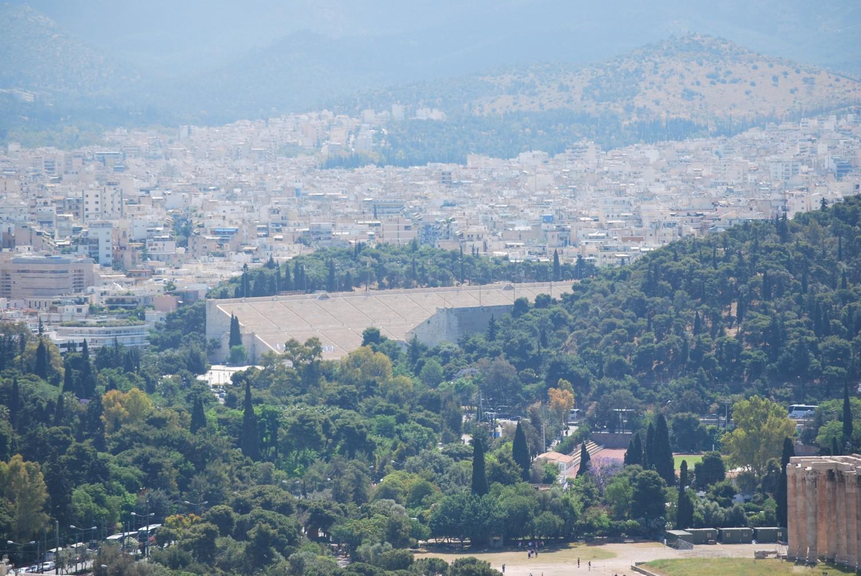 Letnie zmętnienie pyłowe nad Atenami